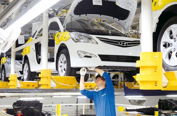 В 1 квартале 2016 года российский завод Hyundai выпустил 41 200 автомобилей