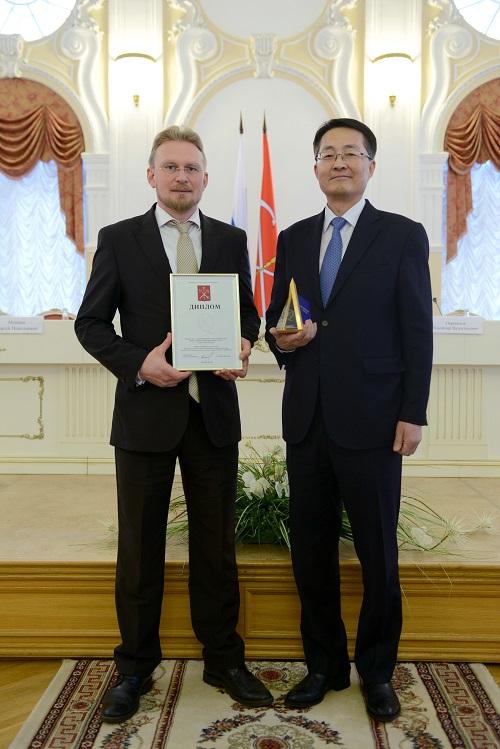 HyundaiMotor получил награду Правительства Санкт-Петербурга